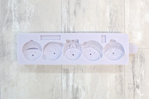 Snowman Head Border Mould