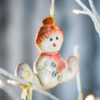 Sitting Snowman Cookie