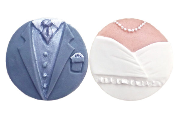 Cupcake Tops - Bride & Groom Mould