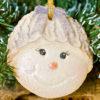 Cupcake Top - Snowman Bow