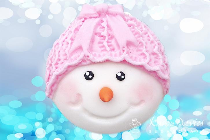 Cupcake Top - Snowman Bow Mould