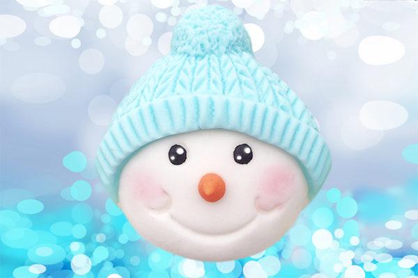 Cupcake Top - Snowman Bobble Mould