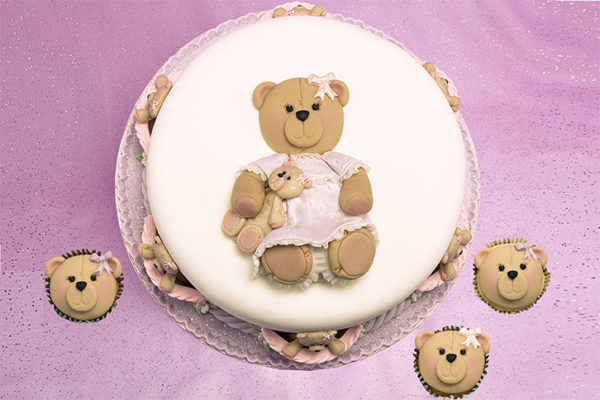 Cupcake Top - Teddy Face