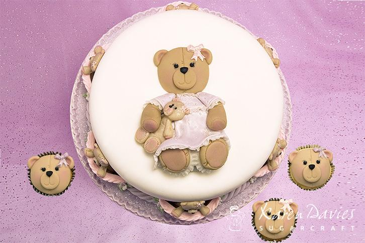 Cupcake Top - Teddy Face Mould